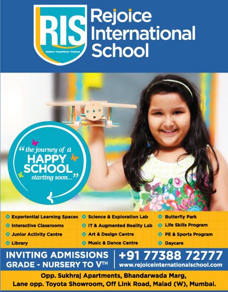 admission in rejoice international school